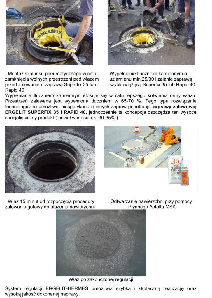 Regulacja studni Ergelit Hermes 3