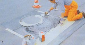 Połowa jednego opakowania służy do usuwania uszkodzeń do 1 m2