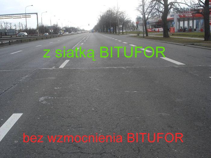 SIATKA STALOWA - MESH TRACK - Aleja Krakowska Warszawa